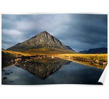 Buachaille Etive Mor, Glen Coe, Highlands of Scotland. Poster