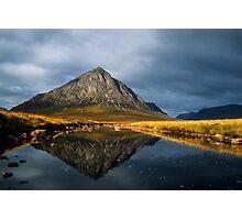 Buachaille Etive Mor, Glen Coe, Highlands of Scotland. Photographic Print