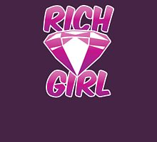 Rich girl with pink diamond jewel  Womens Fitted T-Shirt