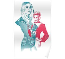 Nervo Twins Blue and Red Poster
