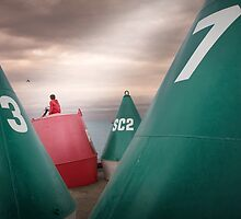 Boy's buoys by Adrian Donoghue