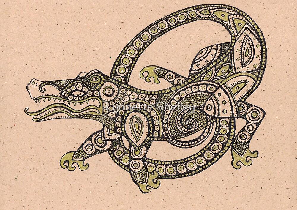 Dancing Alligator by Lynnette Shelley