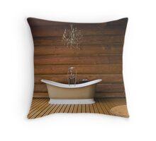 The Outdoor Bath Tub Throw Pillow