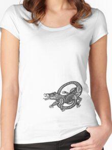 Dancing Alligator Tee Women's Fitted Scoop T-Shirt