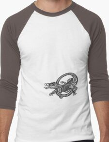 Dancing Alligator Tee Men's Baseball ¾ T-Shirt