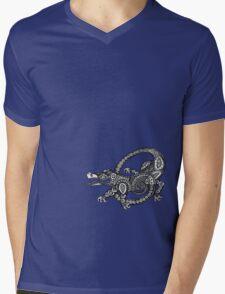 Dancing Alligator Tee Mens V-Neck T-Shirt
