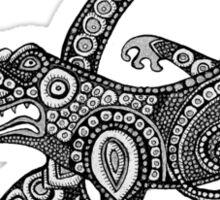 Dancing Alligator Tee Sticker