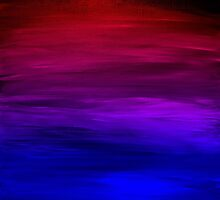 ETERNAL SUNSET Bold Colorful Ombre Abstract Acrylic Painting Fuchsia Magenta Pink Red Royal Blue by EbiEmporium