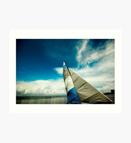 Blue Sail...Blue Sky Art Print