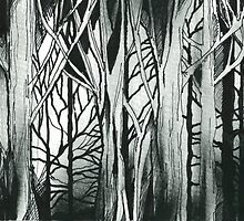 Woods Detail by Wayne Grivell