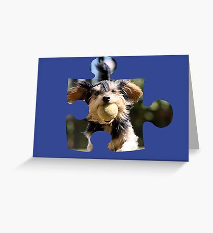 Puzzle Dog Greeting Card