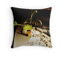 Vegetarian Caterpillar Throw Pillow