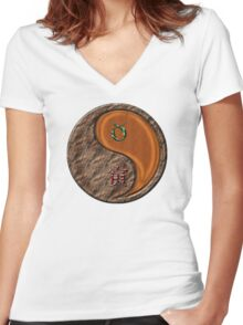 Taurus & Tiger Yang Wood Women's Fitted V-Neck T-Shirt