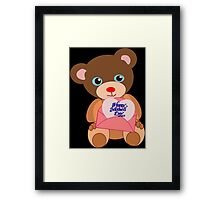 Teddy with mother's day message (5130 views) Framed Print