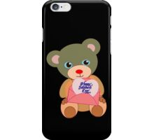 Teddy with mother's day message (5130 views) iPhone Case/Skin