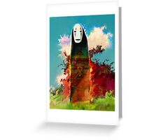 spirited away. no face Greeting Card