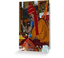 red hat. mcleod ganj, india Greeting Card