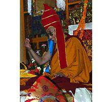red hat. mcleod ganj, india Photographic Print