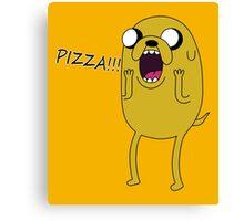 Adventure Jake Pizza Canvas Print