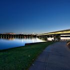 The Blue Sunset At The Lake Burley Griffin  by Sam Ilic