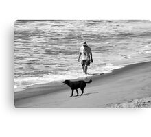 DOG DAY AT THE BEACH Canvas Print