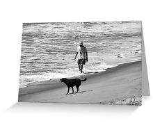 DOG DAY AT THE BEACH Greeting Card