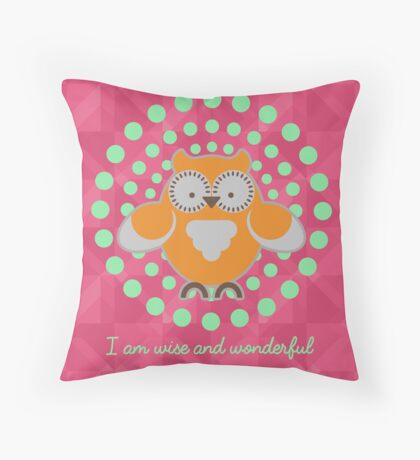 Wise and Wonderful version 1 Throw Pillow
