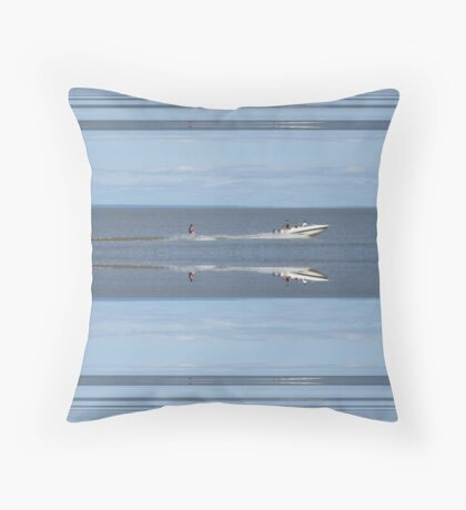 Speed Boat Echo Throw Pillow