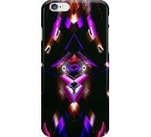 WA9 Colour in the Night fractal trace design iPhone Case/Skin