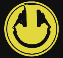 Smiley Headphones DJ Club Rave Loose Fit T-Shirt