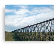 Train on the Bridge Canvas Print