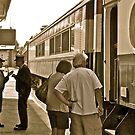 """The Engineer and Conductor Confer"" - Conway Scenic RR Series - © 2009 by Jack McCabe"