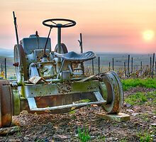 Sunrise Tractor by Victor Pugatschew