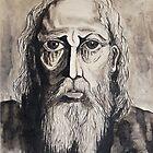 Ink Painting, The Prophet, 1990 by Igor Pozdnyakov