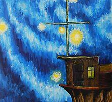 """Oil Painting - """"Fireballs"""", 1990 by Igor Pozdnyakov"""