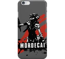 Mordecai (Colored BG) iPhone Case/Skin