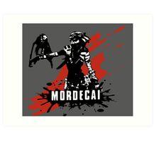 Mordecai (Colored BG) Art Print