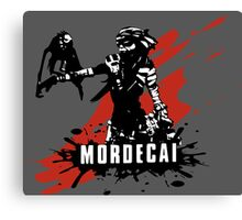 Mordecai (Colored BG) Canvas Print