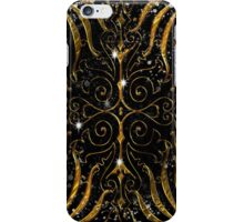 Black and Gold Victorian Sparkle iPhone Case/Skin
