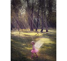 """Woodland Angel"" - A Tribute To Breast Cancer Awareness Photographic Print"