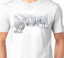 Sheep with patches of brown wool Unisex T-Shirt