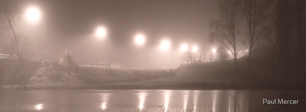 Wairoa River at night pano by Paul Mercer
