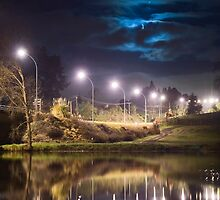 Wairoa River at night 9 by Paul Mercer