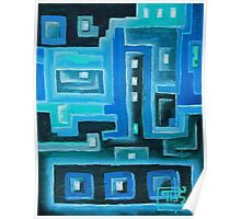Oil Painting - Abstract IX - Printed Circuits 2009 Poster