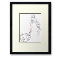 #Music Framed Print