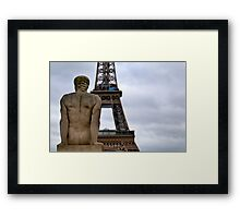 The Tower Behind Framed Print