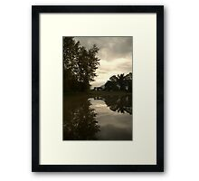 Reflections of the Farm Framed Print