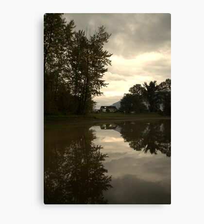 Reflections of the Farm Canvas Print