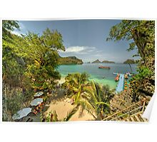 Tropical Harbour Poster
