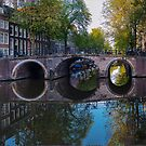 Amsterdam bridge reflections. by naranzaria